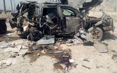 Vozilo u kojem su stradali hrvatski vojnici u Kabulu (Foto: MORH)