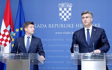 Premijer Plenković i ministar Marić (Foto: Patrik Macek/PIXSELL)