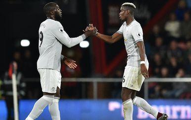 Romelu Lukaku i Paul Pogba (Foto: AFP)