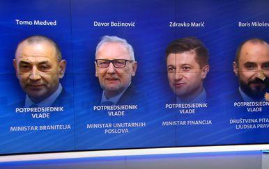 Potpredsjednici u novoj Vladi