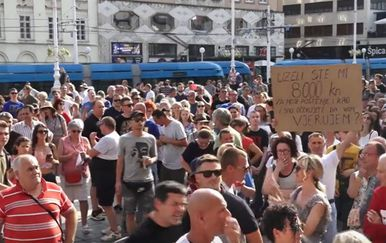 Prosvjed u Zagrebu pod nazivom Krik za slobodu - 1