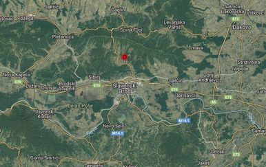 Potres kod Slavonskog Broda (Foto: EMSC)