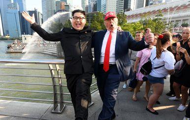 Dvojnici Trumpa i Kim Jong Una u Singapuru (Foto: AFP) - 4