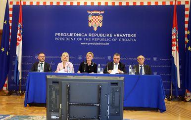 Predsjednica Kolinda Grabar-Kitarović predstavila prijedloge mjera populacijske politike (Foto: Goran Stanzl/PIXSELL)