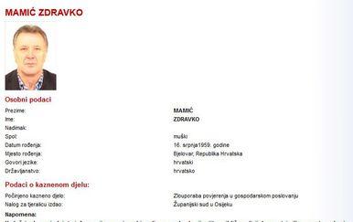 Tjeralica za Mamićem (Foto: MUP.hr)