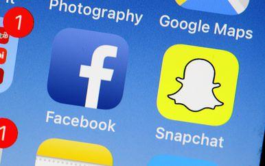 Snapchat i Facebook (Foto: AFP)