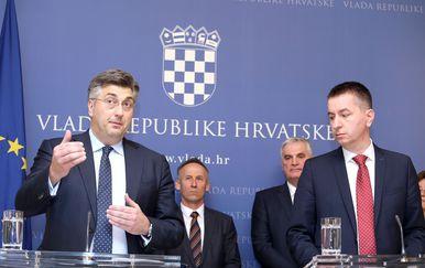 Andrej Plenković i Fabris Peruško (Foto: Patrik Macek/PIXSELL)