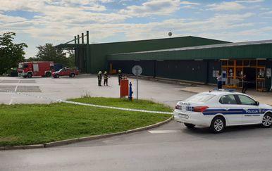 Požar u trgovačkom centru u Požegi (Foto: Pozega.eu)