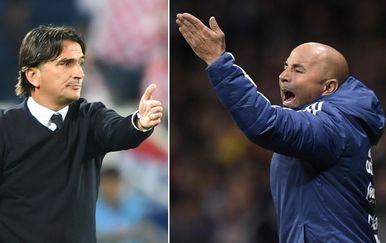 Zlatko Dalić i Jorge Sampaoli (Foto: AFP)