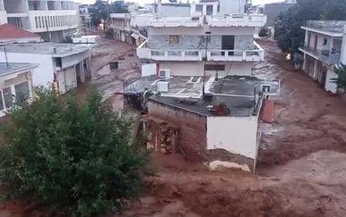Poplave u Grčkoj (Printscreen Severe Weather Europe)