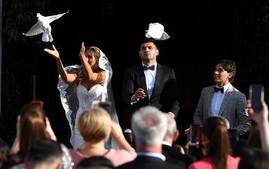 Vjenčanje Filipa Hrgovića i Marinele Ćaje (Foto: Marko Lukunić/Pixsell)