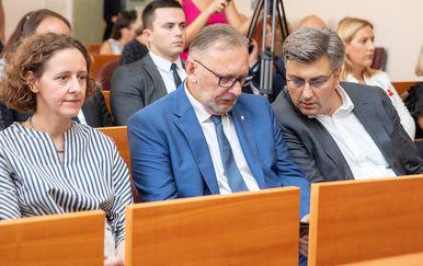 Davor Božinović i Andrej Plenković (Foto: Grgo Jelavic/PIXSELL)