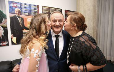 Mate Bulić sa suprugom Zdenkom i kćerkom Katjom (Foto: Petar Glebov/PIXSELL)