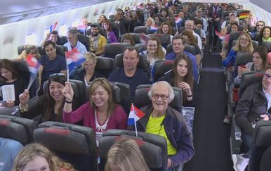 Prvi izravni let iz SAD-a za Hrvatsku (Foto: Dnevnik.hr)