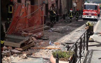 Eksplozija kod Rima (Foto: Twitter/Vigili del Fuoco)
