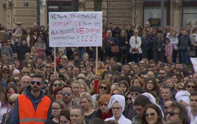 Prosvjed inicijative Spasi me (Foto: Dnevnik.hr)