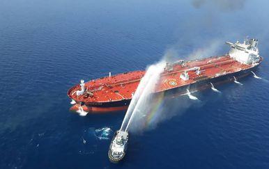 Napadnuti tanker (Foto: TASNIM NEWS / AFP)