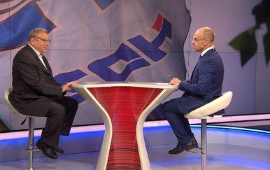 Savjetnik HDZ-a Vladimir Šeks gostuje u Dnevniku Nove TV (Foto: Dnevnik.hr) - 1