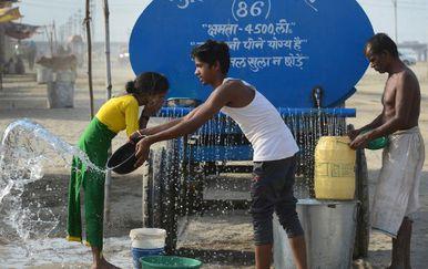 Vrućine u Indiji (FOTO: AFP)