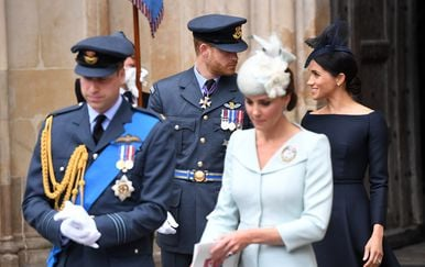 Meghan Markle, princ Harry, princ William i Kate Middleton (Foto: AFP)