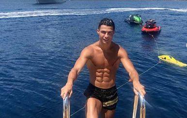 Cristiano Ronaldo na godišnjem odmoru (Screenshot Instagram)