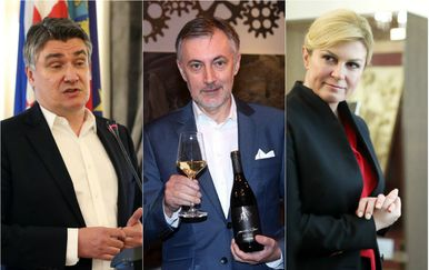 Zoran Milanović, Miroslav Škoro i Kolinda Grabar-Kitarović (Foto: Pixsell)
