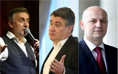 Miroslav Škoro, Zoran Milanović, Mislav Kolakušić (Foto: Pixsell)