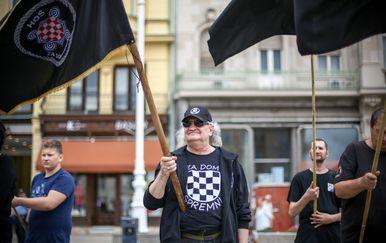 Mimohod stranke A-HSP središtem Zagreba (Foto: Marko Lukunic/PIXSELL) - 6