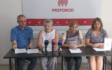 Sindikat Preporod održao konferenciju za medije o Školi za život (Foto: Dnevnik.hr)