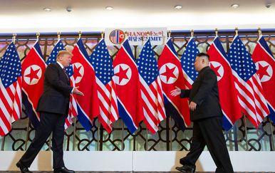 Donald Trump i Kim Jong Un (Foto: AFP)