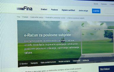 Obavijest o e-računima (Foto: Dnevnik.hr)