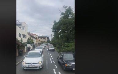 Gužve na Črnomercu nakon iscrtavanja novih parkirnih mjesta