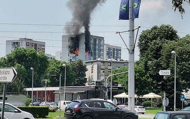 Požar u zgradi u Trnskom - 1