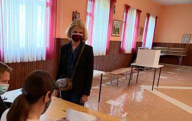 Blanka Stipčić Berić na biračkom mjestu