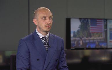 Branimir Vidmarović u studiju Dnevnika Nove TV - 1