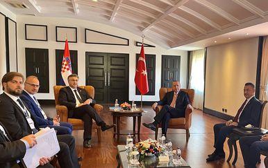 Sastanak premijera Andreja Plenkovića s turskim predsjednikom Erdoganom