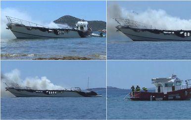 Požar brodice u Biogradu - 5