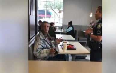 Galloo je policajki potvrdio da ga beskućnik nije gnjavio, ali to joj nije puno značilo (FOTO: Facebook/Screenshot)