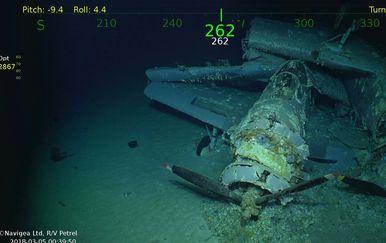 Nakon 76 godina u Pacifiku otkriven USS Lexington (Foto: Twitter/Navigea Ltd, R/V Petrell)