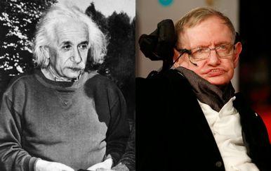 Albert Einstein i Stephen Hawking (Foto: AFP)