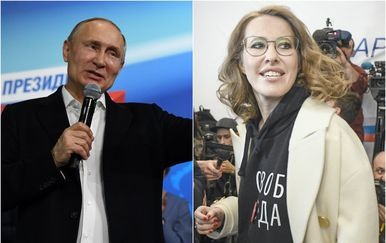 Vladimir Putin i Ksenija Sobčak (Foto: AFP)
