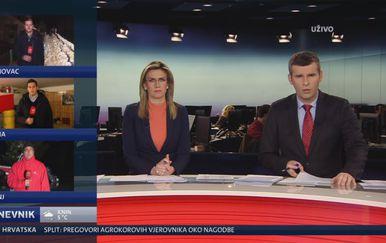 Reporteri Nove TV izvještavaju o poplava diljem Hrvatske (Foto: Dnevnik.hr)