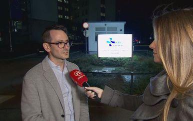 Adriano Friganović iz Hrvatskog nacionalnog saveza sestrinstva i Barbara Štrbac (Foto: Dnevnik.hr)