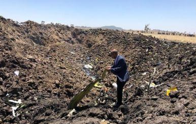 Mjesto pada etiopskog zrakoplova (Foto: Ethiopia Airlines)