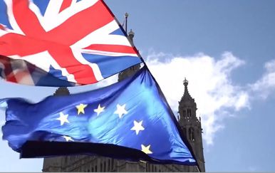 Zastave Engleske i Europske unije (Foto: Dnevnik.hr)