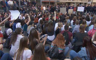 Prosvjed u Beogradu (Foto: Vijesti Nove TV)