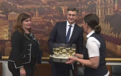 Gabrijela Žalac i Andrej Plenković (Foto: Dnevnik.hr)