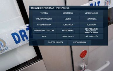 Inspekcije koje će biti pod Državnim inspektoratom (Foto: Dnevnik.hr)
