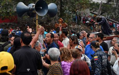 Prosvjed u Venezueli (Foto: AFP)