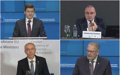 Ministar Zdravko Marić, Gordan Grlić Radman, Damir Krstičević i Davor Božinović